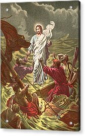Jesus Walking On The Water Acrylic Print by Anonymous
