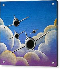 Jet Quartet Acrylic Print by Cindy Thornton