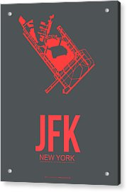 Jfk Airport Poster 2 Acrylic Print by Naxart Studio