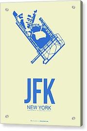Jfk Airport Poster 3 Acrylic Print by Naxart Studio