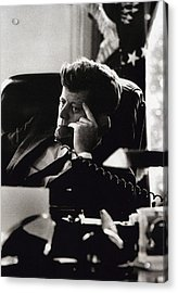 John F. Kennedy By Arthur Rickerby Acrylic Print by Retro Images Archive