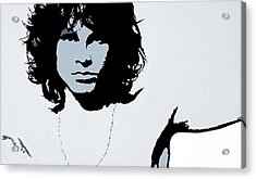 Jim Morrison Acrylic Print by Bryan Dubreuiel