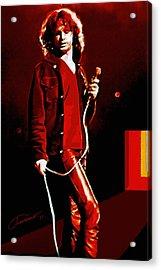Jim Morrison Acrylic Print by John Travisano