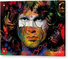 Jim Morrison Acrylic Print by Mark Ashkenazi