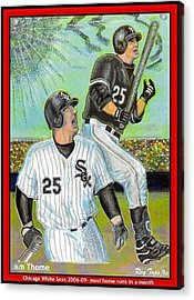 Jim Thome Chicago Power Hitter Acrylic Print by Ray Tapajna