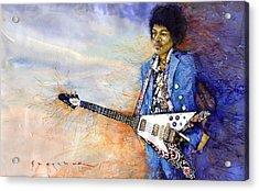 Jimi Hendrix 10 Acrylic Print by Yuriy Shevchuk