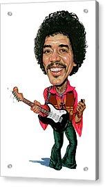 Jimi Hendrix Acrylic Print by Art