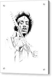 Jimi Hendrix Acrylic Print by Gordon Van Dusen