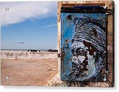 Jimi Hendrix On The Beach Acrylic Print by Daniel Kocian