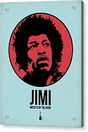 Jimi Poster 2 Acrylic Print by Naxart Studio