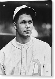 Jimmie Foxx Close Up Photo Acrylic Print by Retro Images Archive