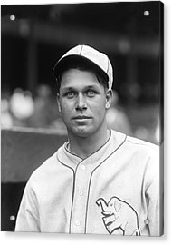 Jimmie Foxx Close Up Acrylic Print by Retro Images Archive