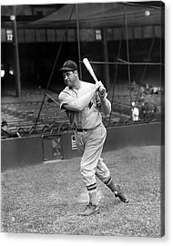 Jimmie Foxx Red Sox Batting Follow Through Acrylic Print by Retro Images Archive