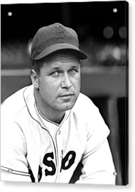 Jimmie Foxx Red Sox Close Up Acrylic Print by Retro Images Archive
