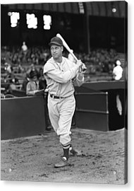 Jimmie Foxx Red Sox Swinging Acrylic Print by Retro Images Archive