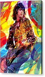 Jimmy Page Leds Lead Acrylic Print by David Lloyd Glover