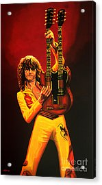 Jimmy Page Painting Acrylic Print by Paul Meijering