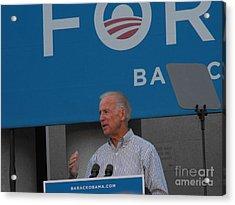 Joe Biden Acrylic Print by Lisa Gifford