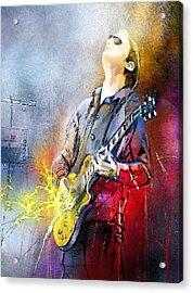 Joe Bonamassa 02 Acrylic Print by Miki De Goodaboom