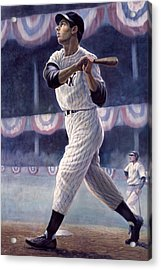 Joe Dimaggio Acrylic Print by Gregory Perillo