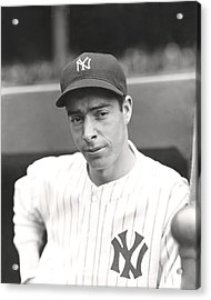 Joe Dimaggio Hand On Hip Acrylic Print by Retro Images Archive