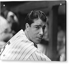 Joe Dimaggio In Dugout Acrylic Print by Retro Images Archive