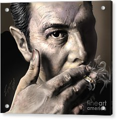 Joe Strummer-burning Lights Acrylic Print by Reggie Duffie