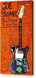 Joe Strummer's 1966 Telecaster Acrylic Print by Karl Haglund