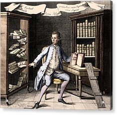 Johann Heinrich Lambert, Swiss Polymath Acrylic Print by Science Source