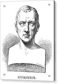 Johann Kaspar Spurzheim Acrylic Print by Granger