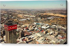 Johannesburg View Acrylic Print by Lisa Byrne