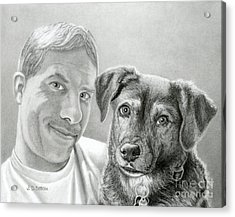 John And Howie Acrylic Print by Sarah Batalka