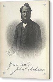 John Anderson Acrylic Print by British Library