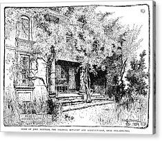 John Bartram House Acrylic Print by Granger