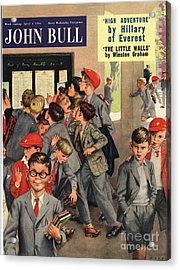 John Bull 1955 1950s Uk Schools Swots Acrylic Print by The Advertising Archives