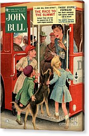 John Bull 1957 1950s Uk Dogs Buses Acrylic Print by The Advertising Archives