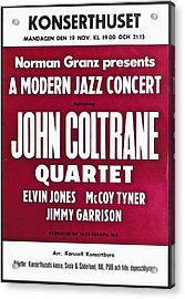 John Coltrane Quartet In Sweden Acrylic Print by Digital Reproductions
