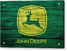 John Deere Barn Door Acrylic Print by Dan Sproul