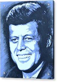 John F. Kennedy Acrylic Print by Victor Minca