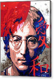 John Lennon - A Man Of Peace. The Number Three. Acrylic Print by Vitaliy Shcherbak