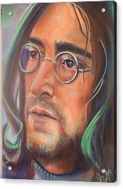 John Lennon Acrylic Print by Mark Anthony
