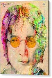 John Lennon Acrylic Print by Mark Ashkenazi