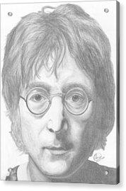 John Lennon Acrylic Print by Olivia Schiermeyer
