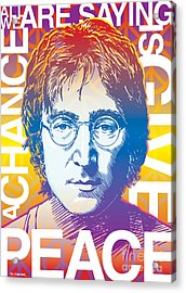 John Lennon Pop Art Acrylic Print by Jim Zahniser