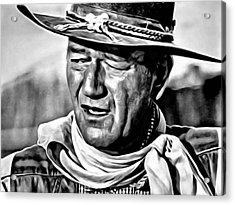 John Wayne Acrylic Print by Florian Rodarte