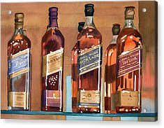 Johnnie Walker Acrylic Print by Mary Helmreich
