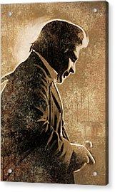 Johnny Cash Artwork Acrylic Print by Sheraz A