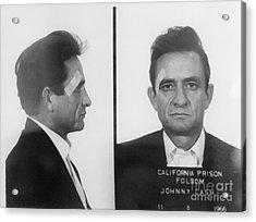 Johnny Cash Folsom Prison Acrylic Print by David Millenheft