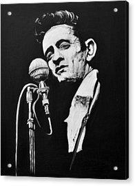 Johnny Cash Acrylic Print by Melissa O'Brien
