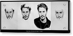 Johnny Depp 4 Acrylic Print by Andrew Read